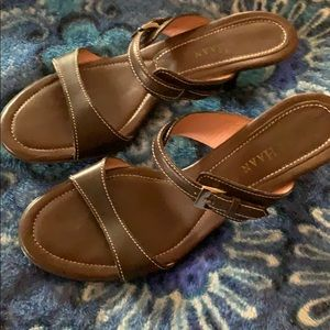 ColeHaan brown 2inch dress sandals